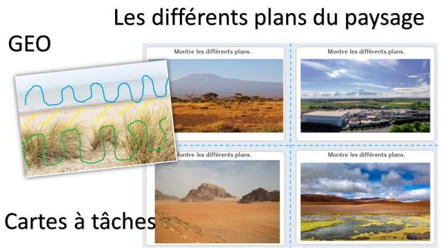Géographie travailler le paysage en cartes à tâches plans du paysage
