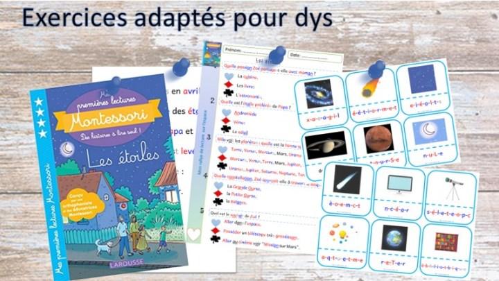 Rallye de lecture dys de Mes première lectures Montessori
