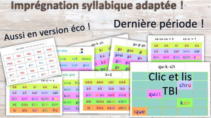 Imprégnation syllabique des sons complexes P5