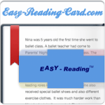 Learning to read with an Easy Reading Card