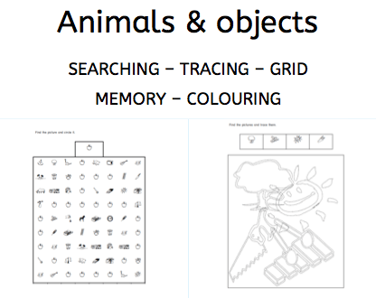 Animals and objects, perception, freebie, parents, children, dyslexia, dyscalculia