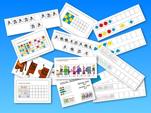 Visual sequencing, perception, dyslexia, worksheets, parents, children