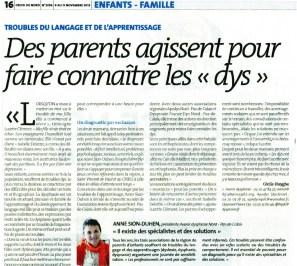 Article La Croix du Nord 9_16_11_2012