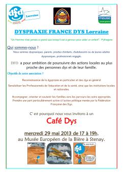 Café Dys le 29 mai 2013