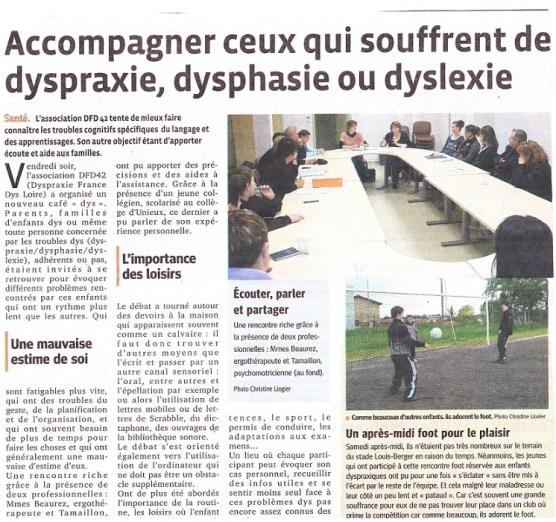 Article Le Progrès 25/04/2013