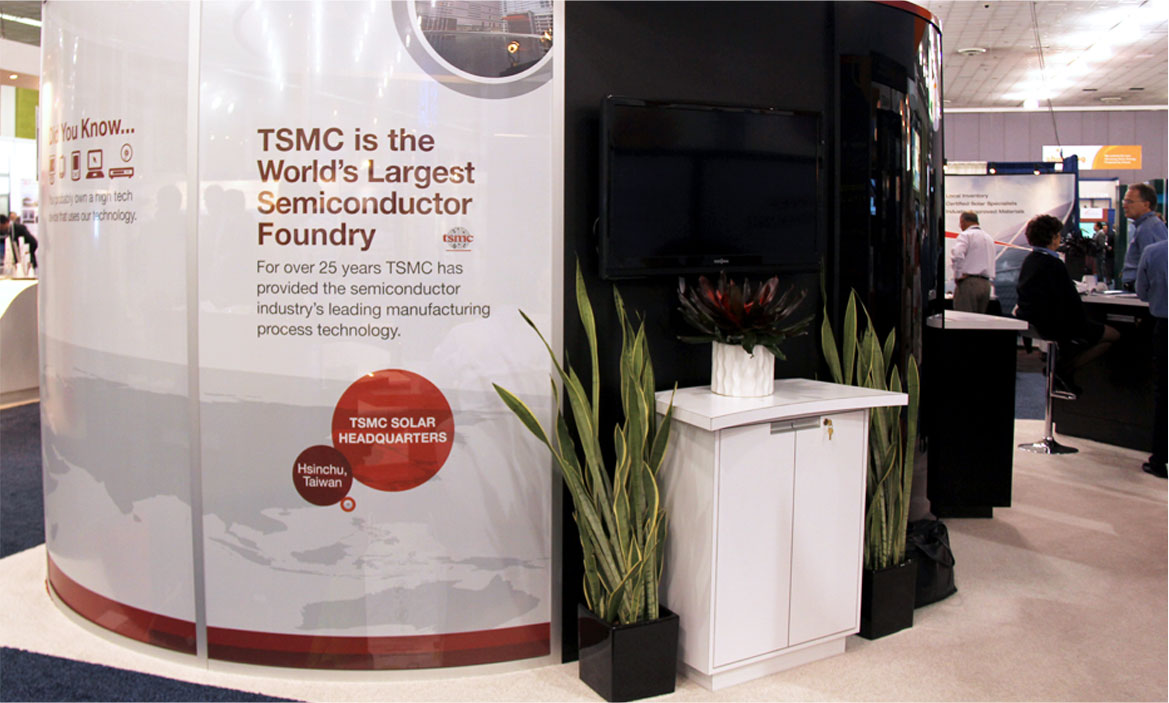 TSMC booth at convention