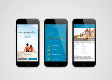 meet me on vacation app on iphone