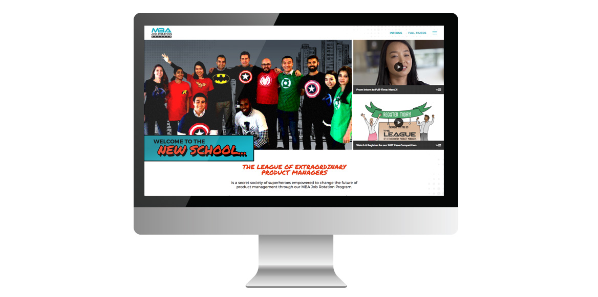 jrp league's website on desktop