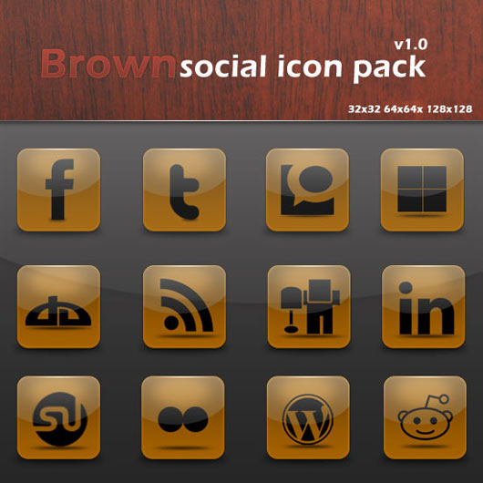 Brown-Social-Icon-Pack