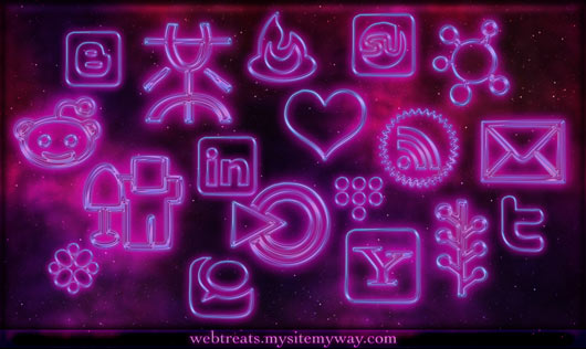 glowing-purple-neon-icons