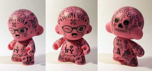 Mini Munny - Tattoo fan