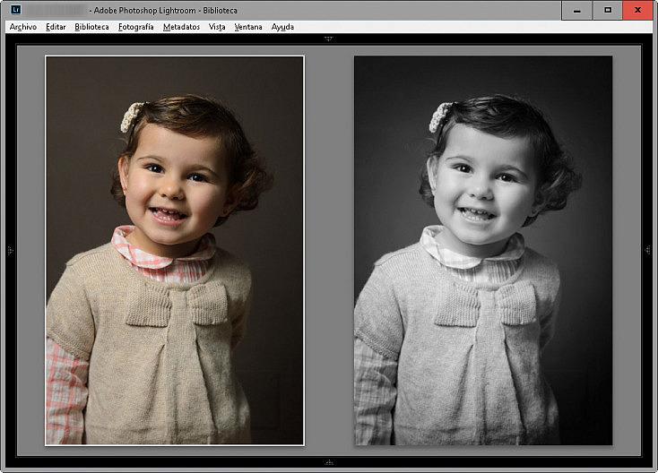 Antes y después - Silver Efex Pro