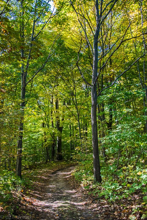 In early October the trees started to change color and the trails becomes less crowded!