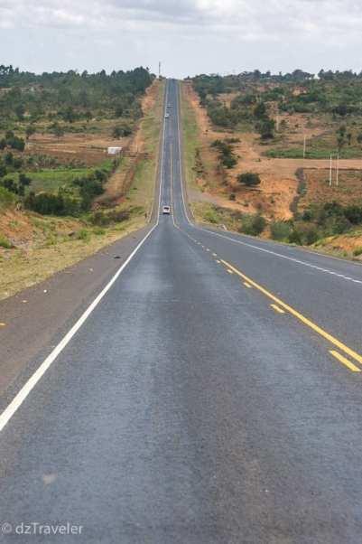 Highway to Nakuru in Kenya