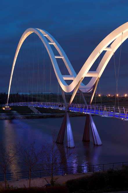 Infinity Bridge Stockton On Tees Lighting England E