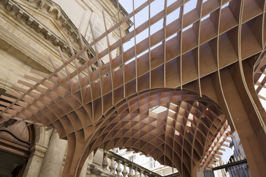 Wooden Pavilion Montpellier Structure E Architect