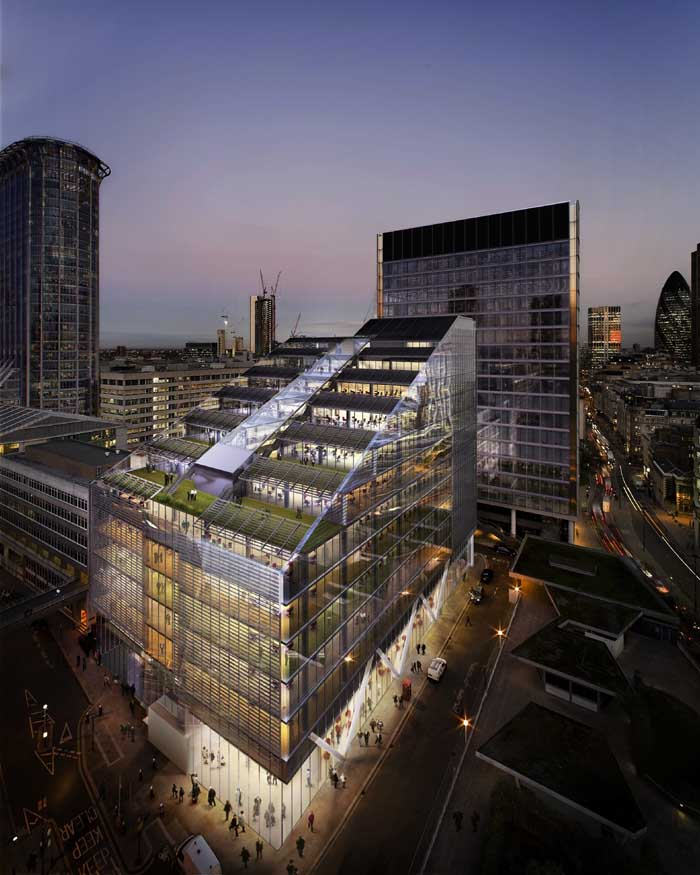 Fore Street Building Telereal London Offices E Architect