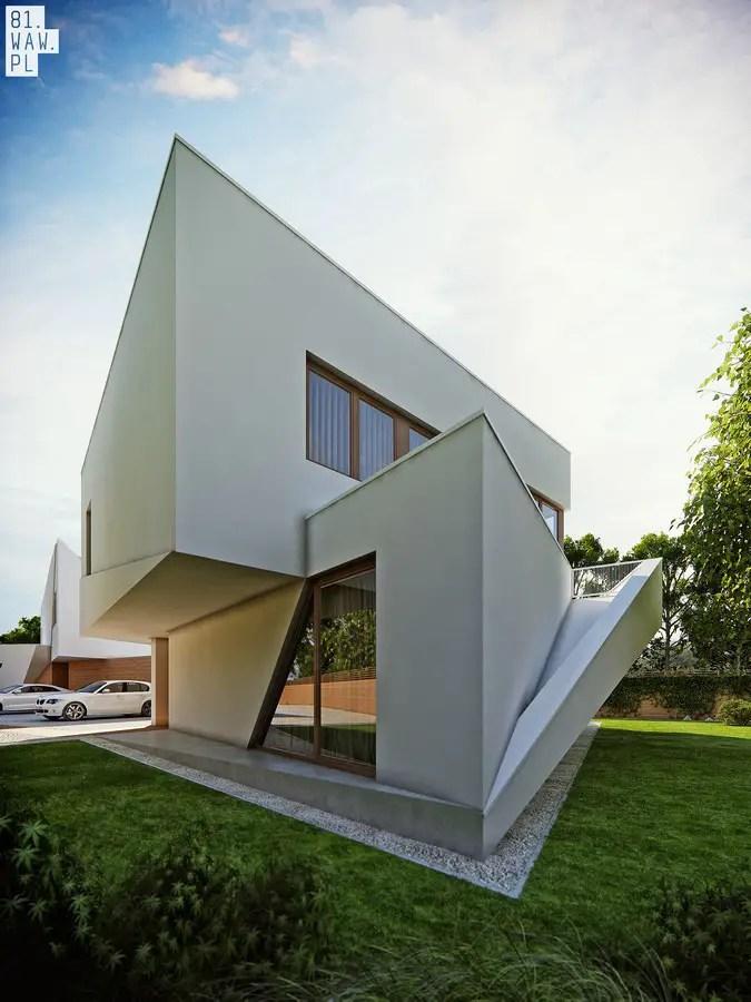 Semi Detached House Polish Residence E Architect