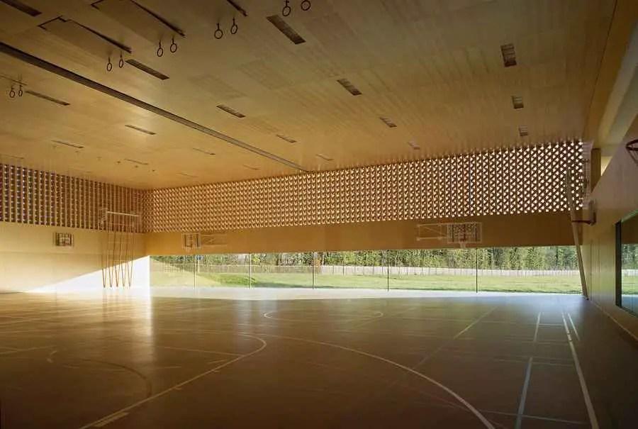 Dual Sports Hall In Borex Crassier Swiss Sports Building