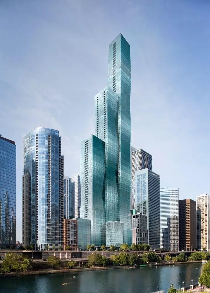 Vista Tower Chicago Skyscraper By Studio Gang E Architect