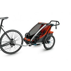 parentsport poussette thule orange chariot cross