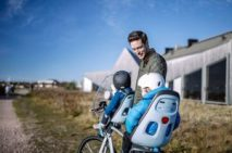 parentsport Thule yepp net mini snow white parents enfants vélo