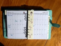 Planning mensuel et marque-page