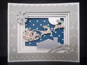 Carte décoration - Père Noël et traineau (2)