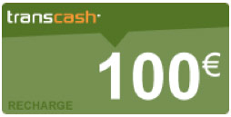 recharge transcash 100€