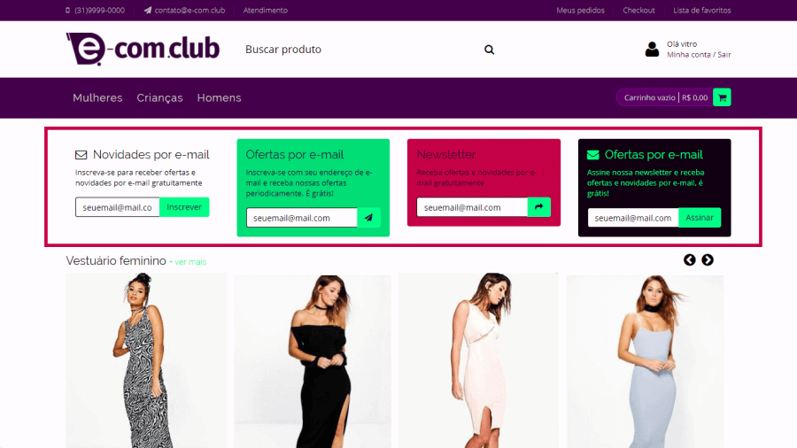 Plugin E-mail marketing - newsletter