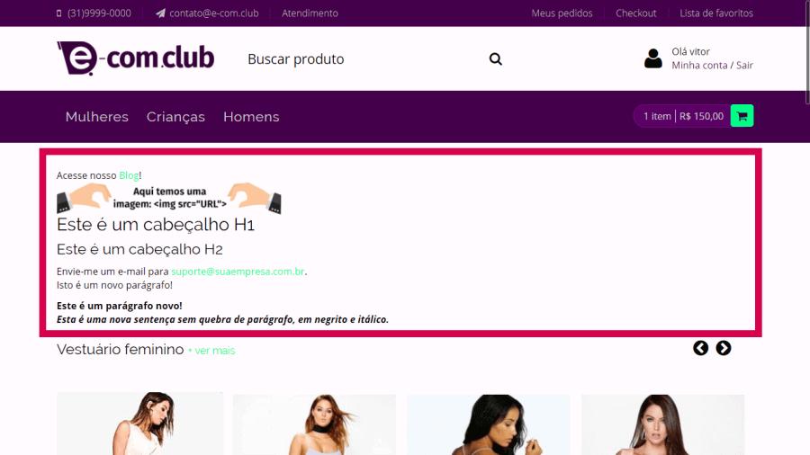 Plugin - Código HTML