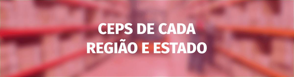 Faixas de CEP de cada região e estado brasileiro