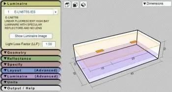 lighting layout calculator indoor