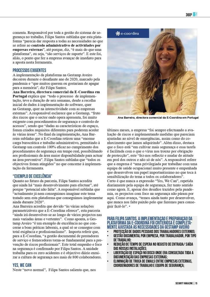 Entrevista Gestamp. Controlo Total. 2