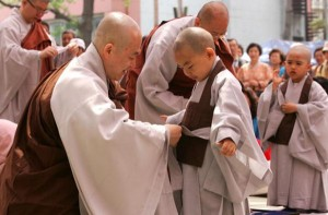 """Robes Donned, Heads Shaved As Children """"Become Buddhist Monks"""""""