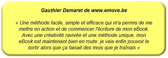 Témoignage Gauthier Demaret