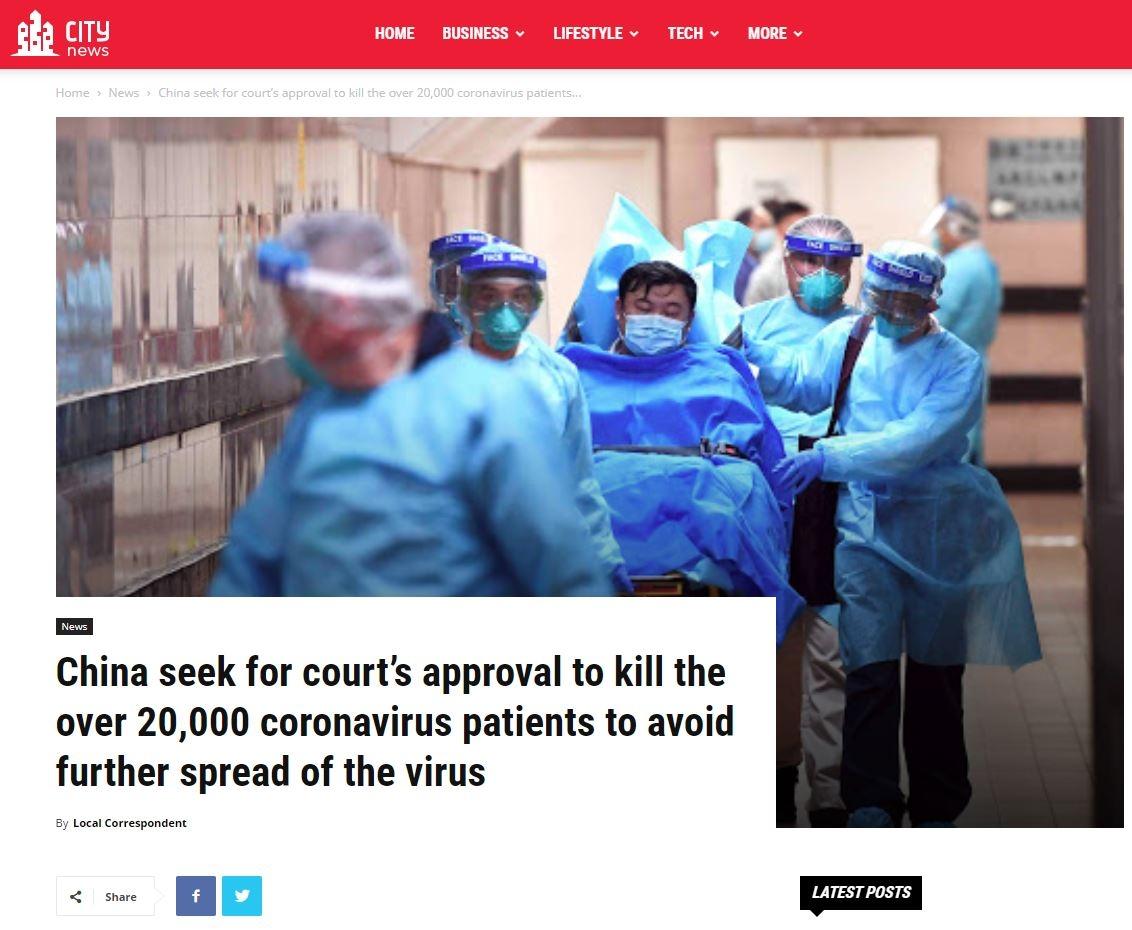 china corona - FAKENEWS A FAVOR DO TERROR: Vídeo mostra operação que mandou matar 20 mil pessoas infectadas com coronavírus
