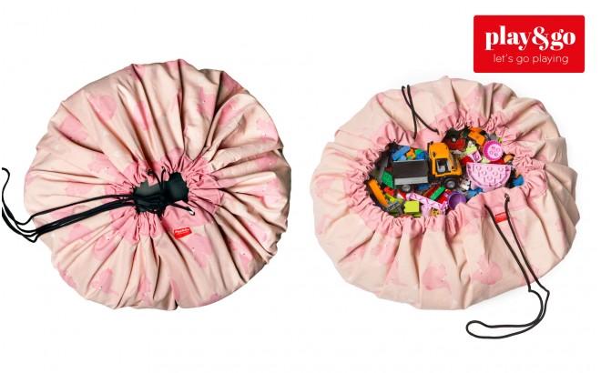 sac et tapis de jeux elephant rose
