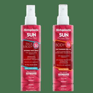 Histoplastin SUN MIST SPF30 + Histoplastin SUN TANNING DRY OIL SPF15