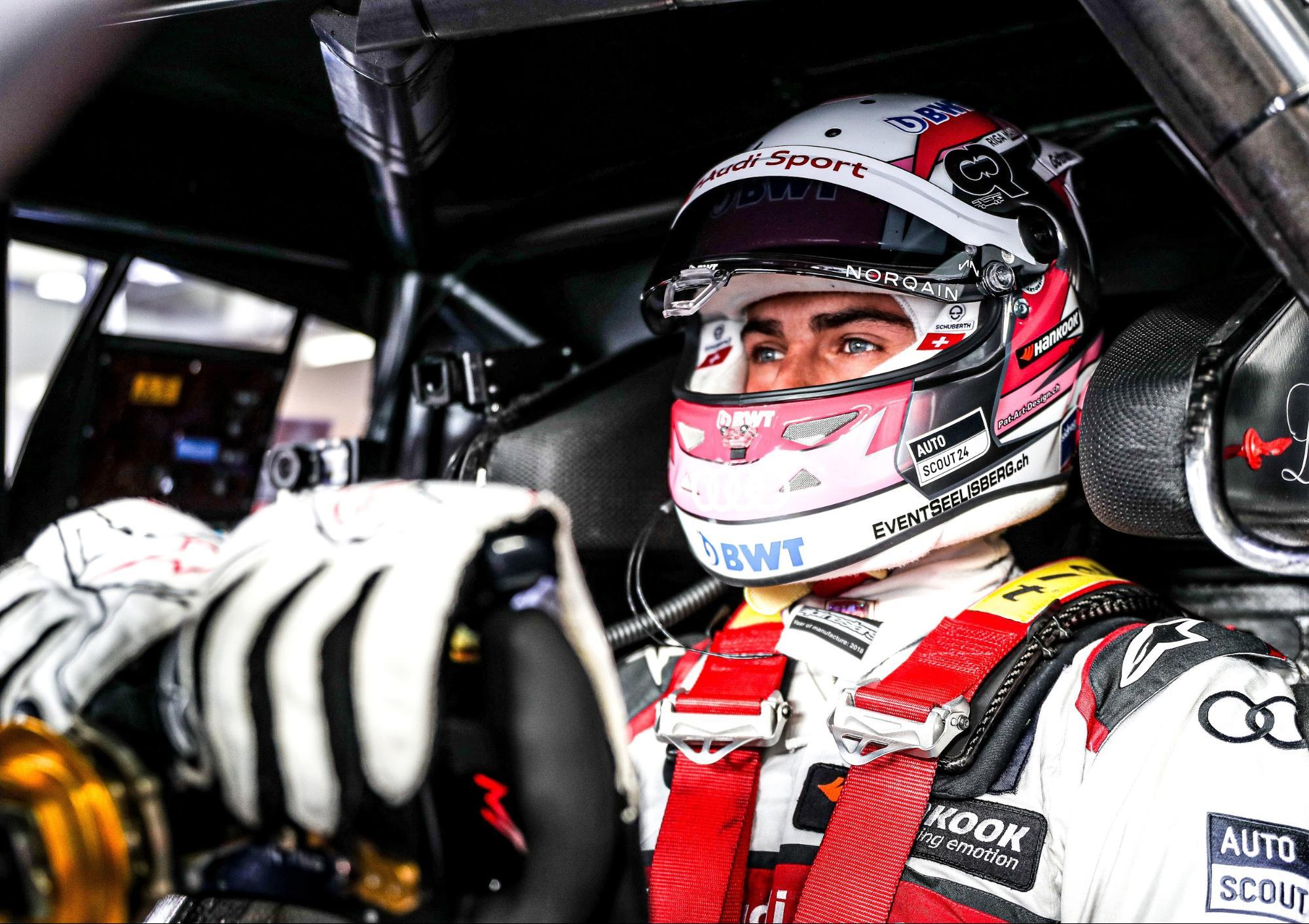 Nico Müller im Cockpit seines Audi RS 5 DTM. (AUDI)