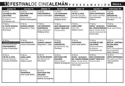 grilla 13 festival de cine aleman de Buenos Aires