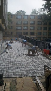 Completing Paver Installation