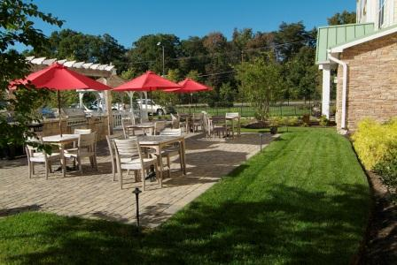 Residents' patio at Town Place Suites