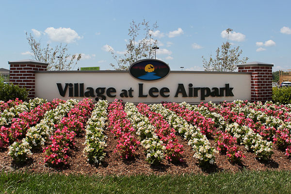 Annuals add to the curb appeal of the Village at Lee Airpark