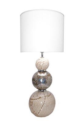 lampe a poser valentine pied en verre souffle 1 lampe
