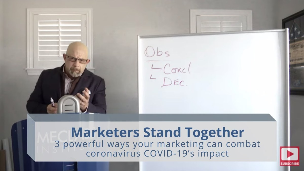 Marketers Stand Together: 3 powerful ways your marketing can combat coronavirus COVID-19's impact