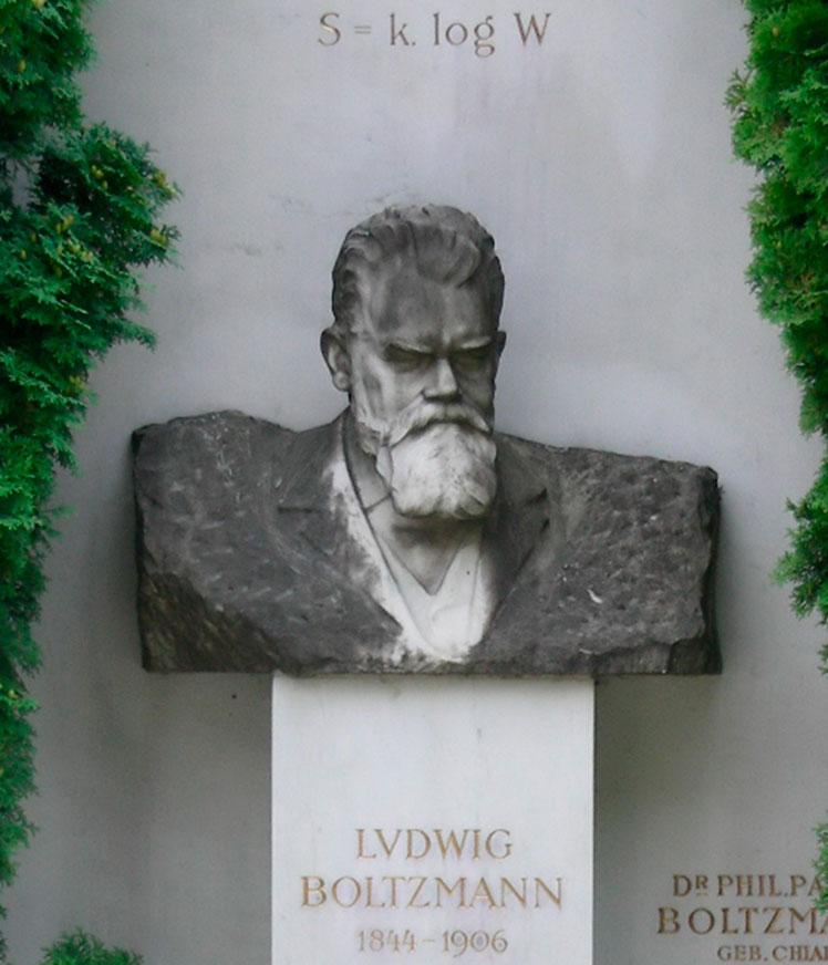 Figura 1. Busto de Ludwig Boltzmann, cementerio de Viena