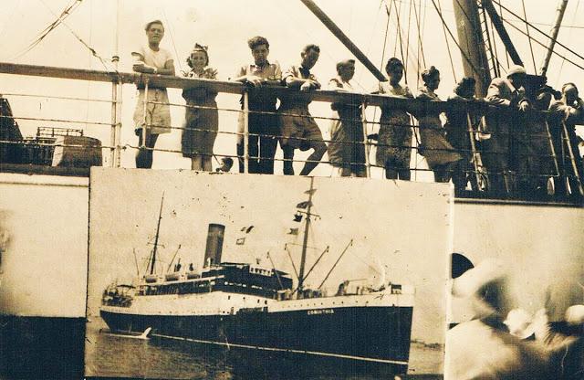 Το πλοίο Corinthia, με το οποίο ο Νίκος Καββαδίας έκανε κάποια ταξίδια το 1953. Στη φωτογραφία, το Corinthia βρίσκεται στο λιμάνι της Αλεξάνδρειας τον Ιούλιο του 1947