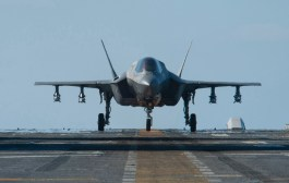 First F-35B power module and engine swap at sea