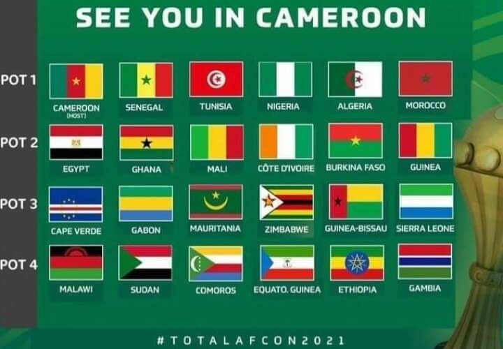 نتائج قرعة كاس افريقيا 2021 مجموعة الجزائر